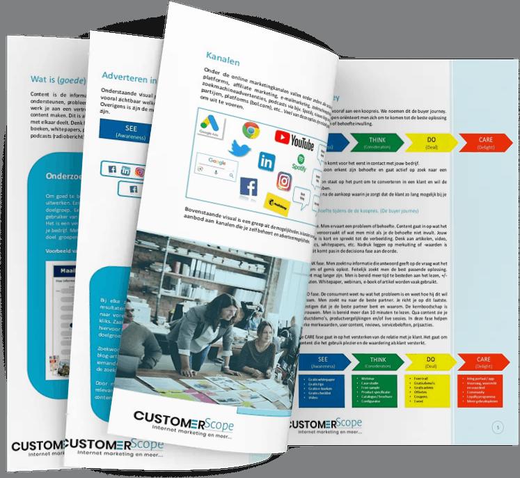inhouds van het handboek content marketing