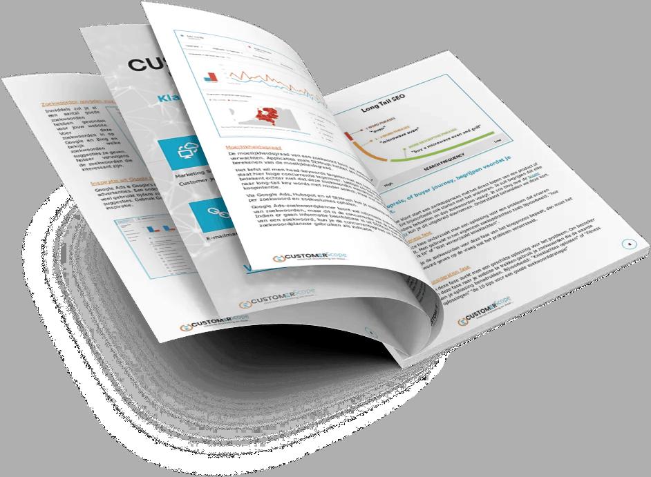 Imhoudspresentatie van het stappenplan zoekwoord onderzoek