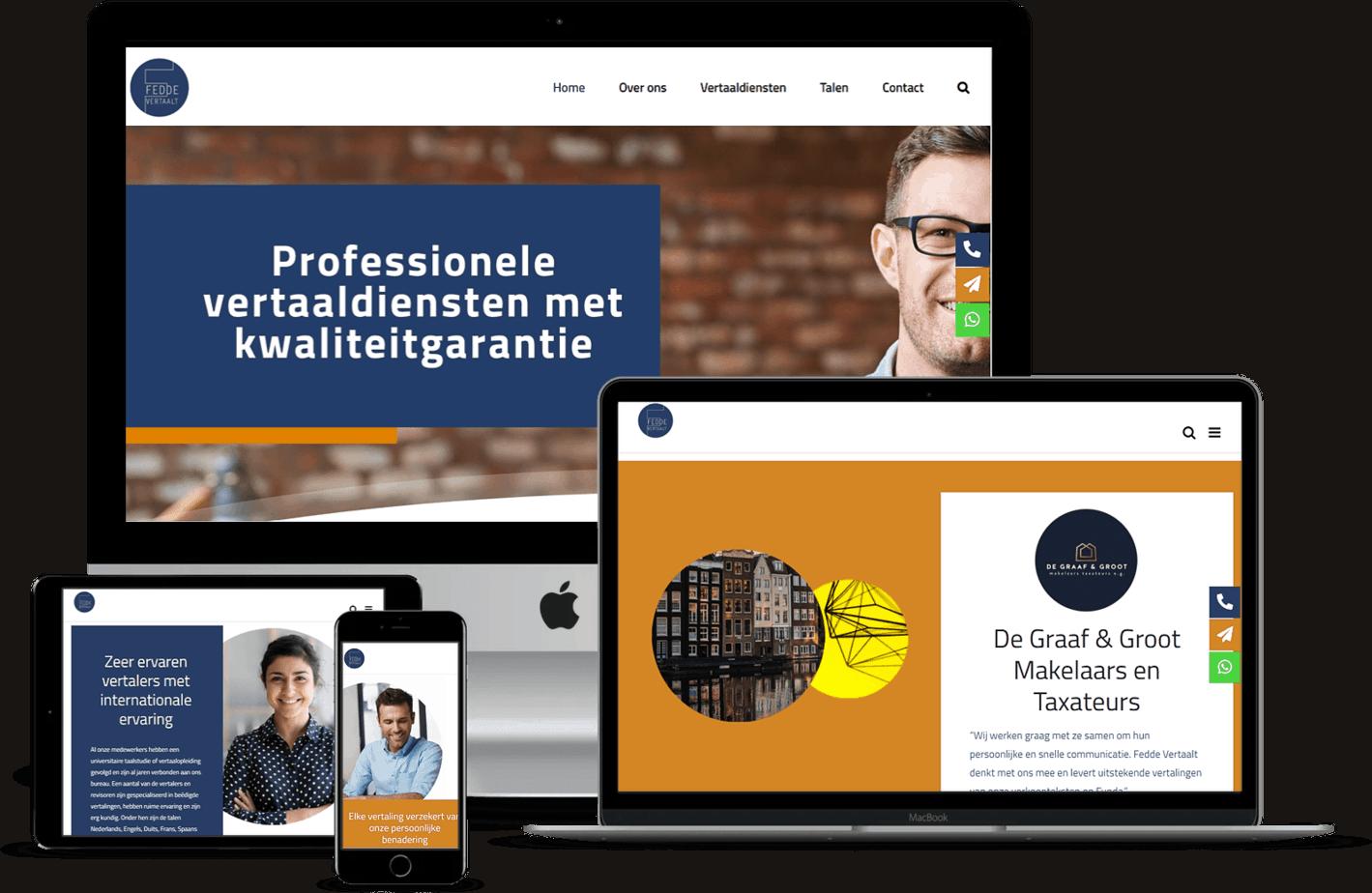 Nieuwe website voor Fedde Vertaalt