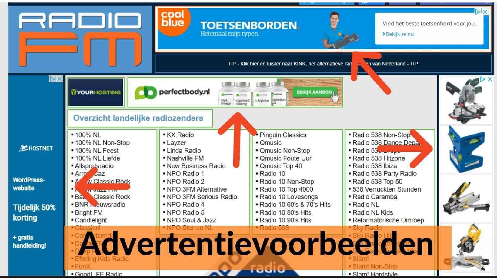 Voorbeelden van display advertentie