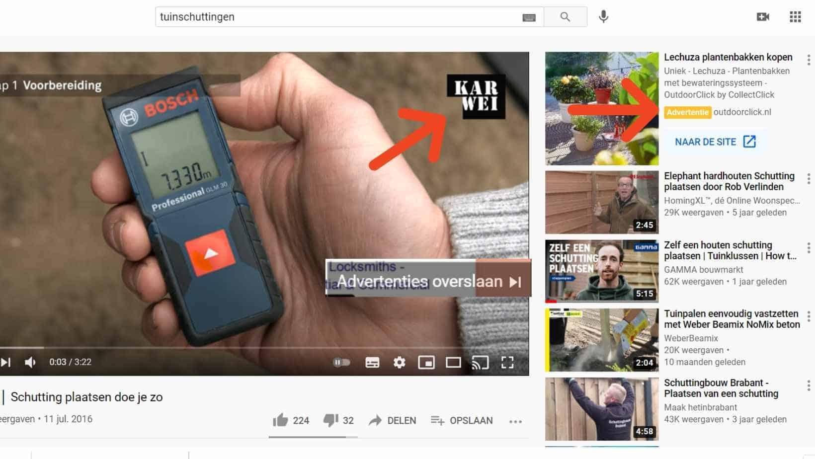 Adverteren in YouTube